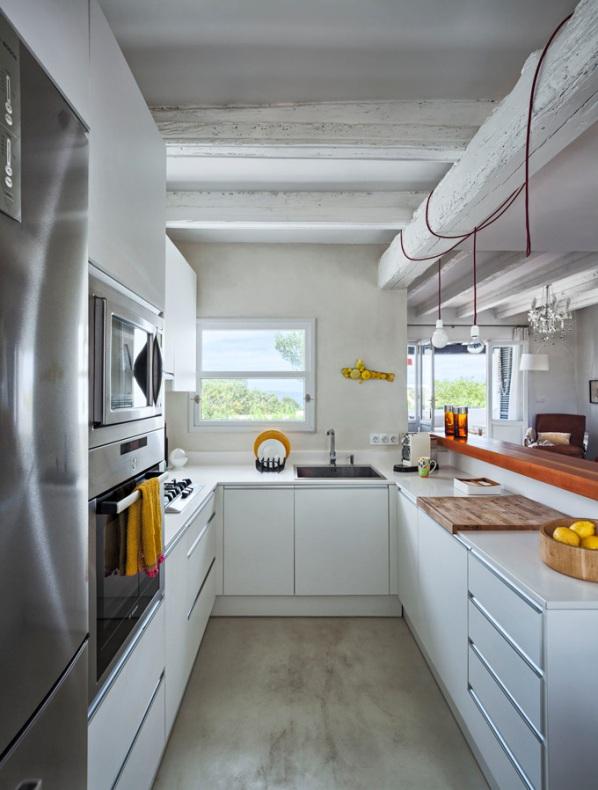 bombillas de diseño en cocina