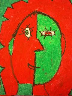 Art Benavidez Elementary Self Portraits Picasso Style