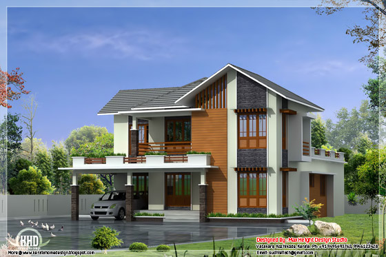 2950 Sq Ft 4 Bedroom Villa Elevation Design Kerala Home Decor