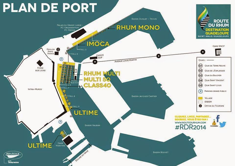 Plan de Saint-Malo avant le départ de la Route du Rhum.