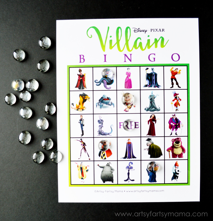 photo relating to Disney Bingo Printable titled No cost Printable Disney Villain Bingo artsy-fartsy mama