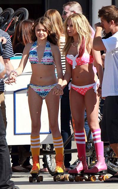 Ashley Tisdale & Sarah Hyland Bikini Beach Photos
