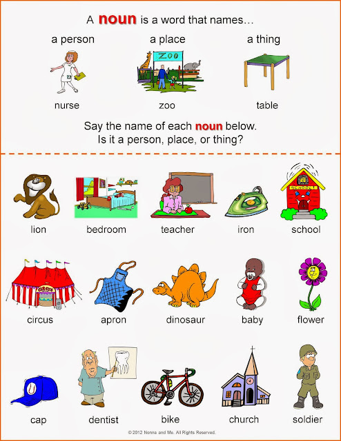 Free Worksheets abstract noun worksheets for class 4 : Welcome to Parts of Speech 1: Nouns