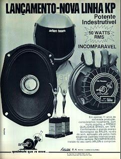 propaganda auto falantes Arlen - 1979