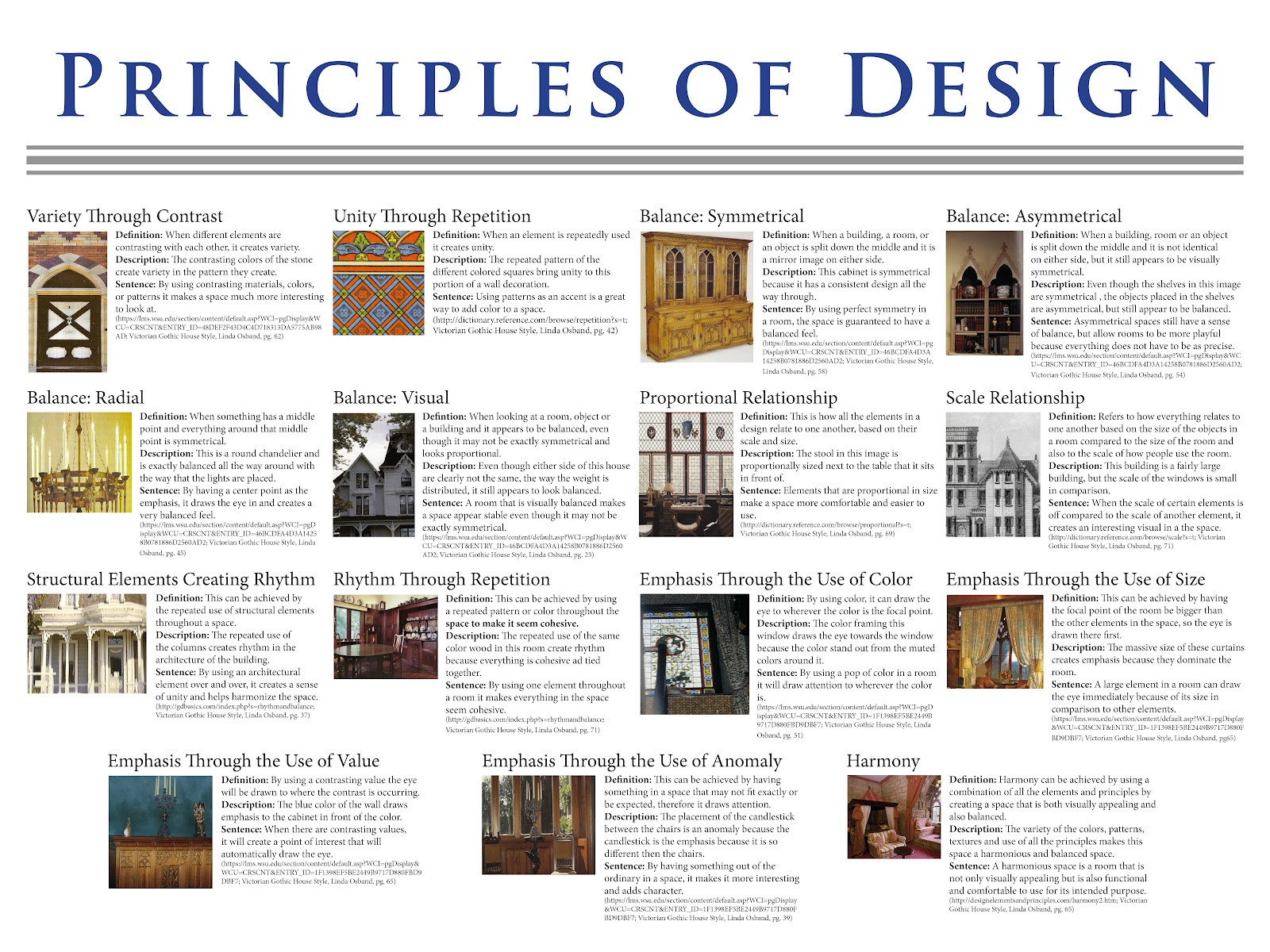 Annie borges design portfolio principles of design for Interior design 7 elements