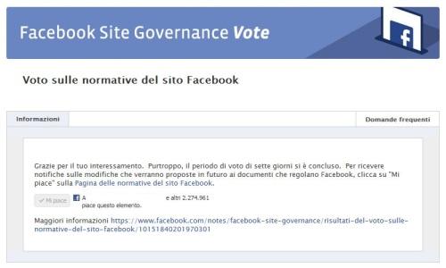 Protezione Account: Facebook: Fallito Referendum Popolare Su Privacy, Al Via Nuove Normative