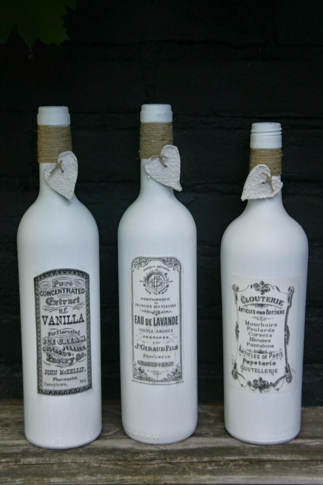 wit met vintage etiket