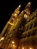Rathaus, fachada nocturna