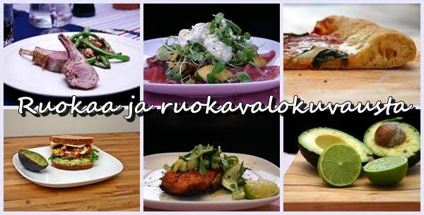 Ruokaa ja ruokavalokuvausta