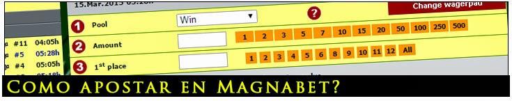 Como realizar apuestas en MagnaBet?