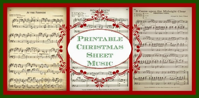 Royalty Free Printable Antique Christmas Sheet Music via Knick of Time