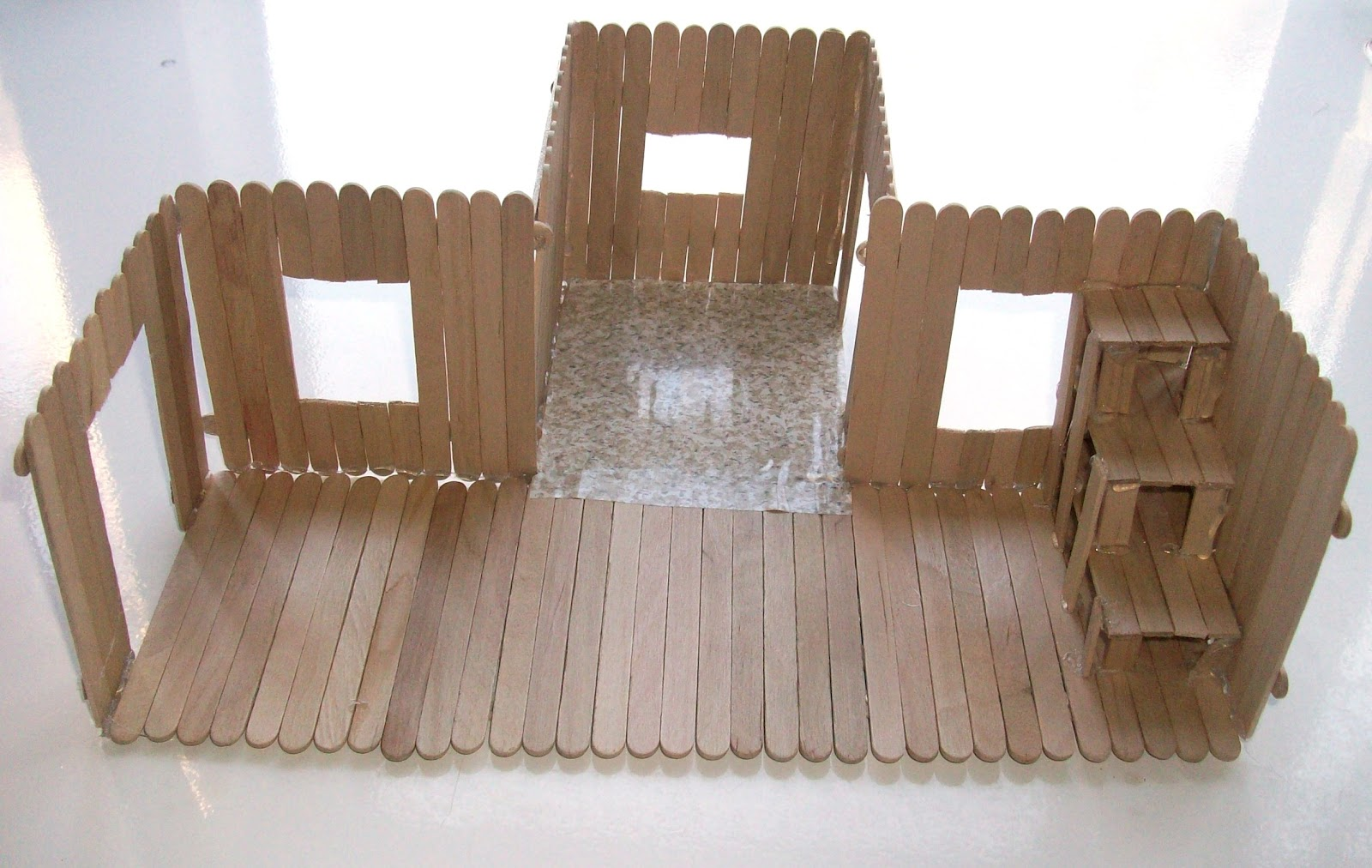 104 days of summer vacation popsicle stick house What to make out of popsicle sticks