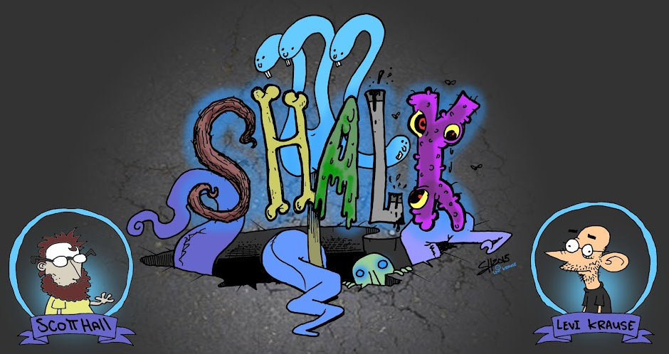 "Shalk! A comic book ""game"" by Scott Hall And Levi Krause"