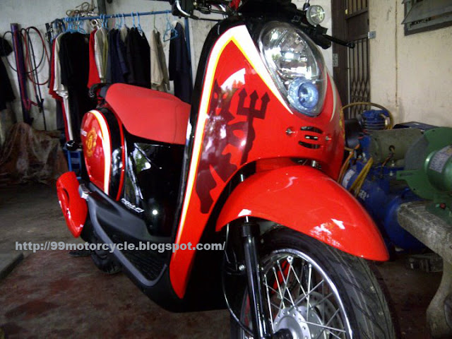 Honda Motor Matic scoppy from thailand, full modification of  title=