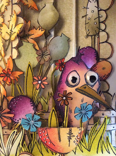 Tim Holtz Crazy Birds and JOFY stamps Clare Chervil My Creative Spirit