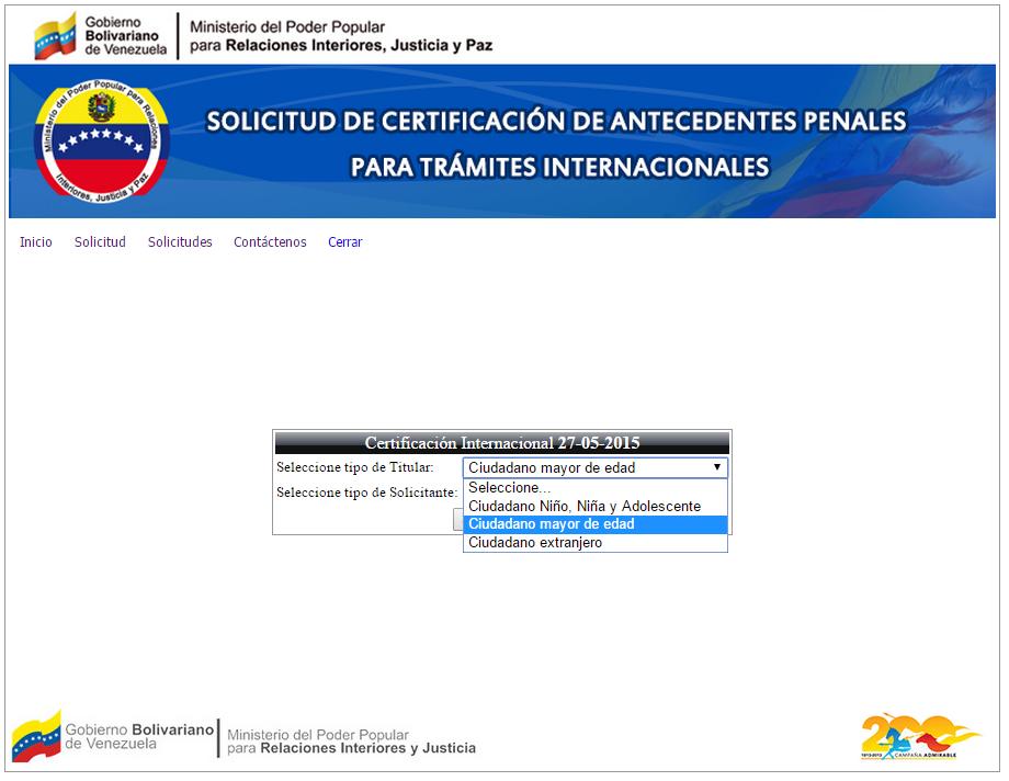 Xodo venezolano certificaci n de antecedentes penales for Ministerio de relaciones interiores