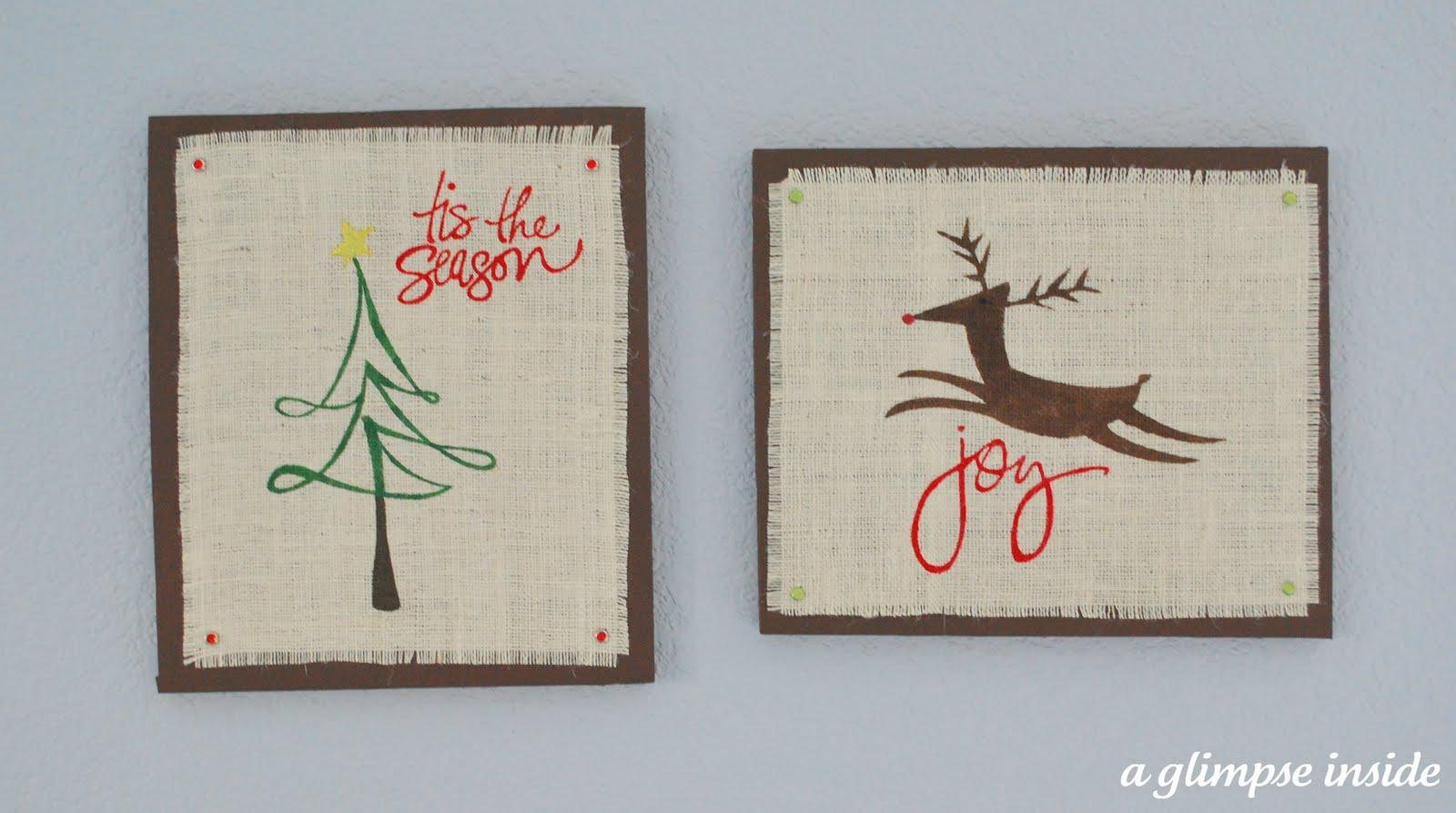 Christmas Wall Art burlap christmas wall art (swell noel #39) - positively splendid