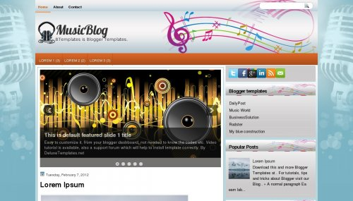 template-music-blog