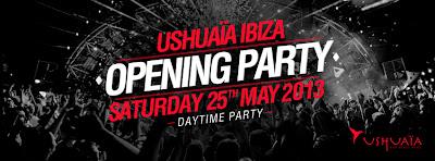Ushuaïa Ibiza Opening Party 2013 el próximo 25 de mayo