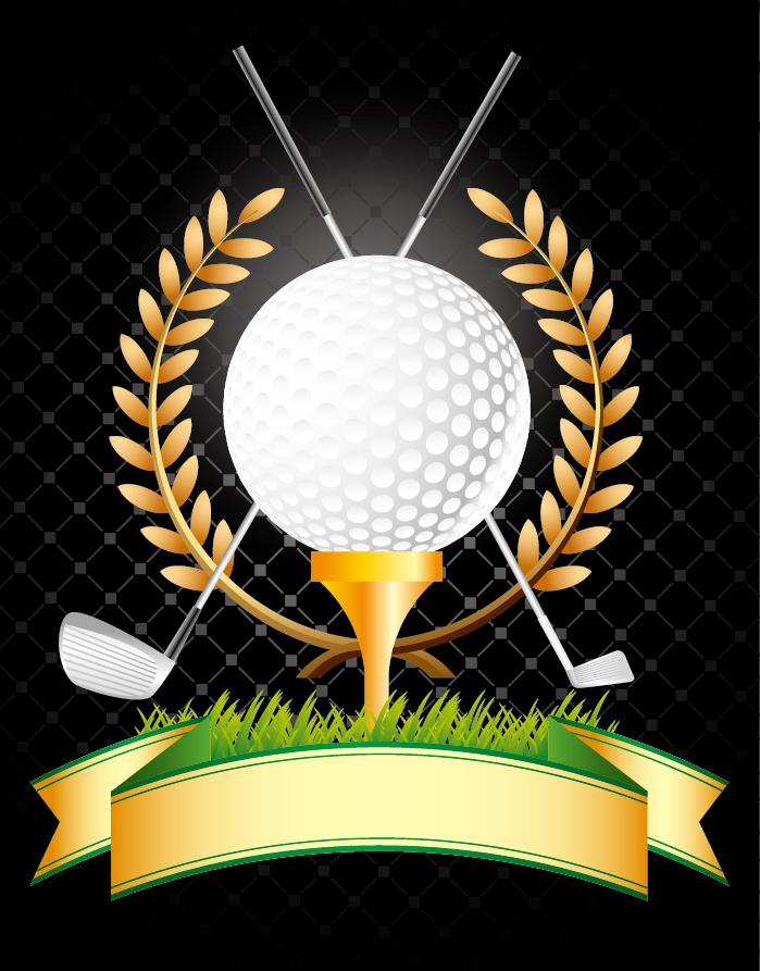 ゴルフクラブ ロゴ デザイン見本 golf clubs wheat vector material イラスト素材