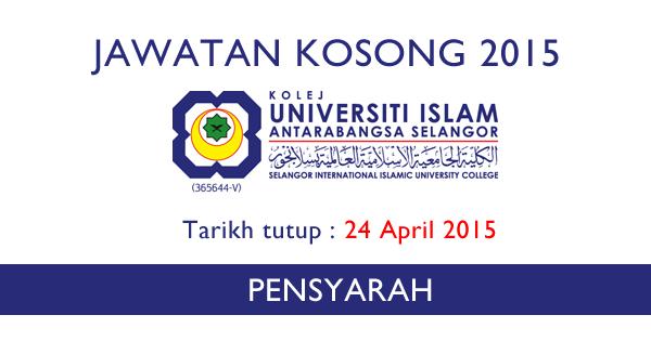 Jawatan Kosong Kolej Universiti Islam Antarabangsa Selangor