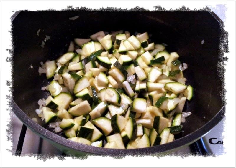 risotto di zucchine, zafferano, menta e stracciatella di burrata.