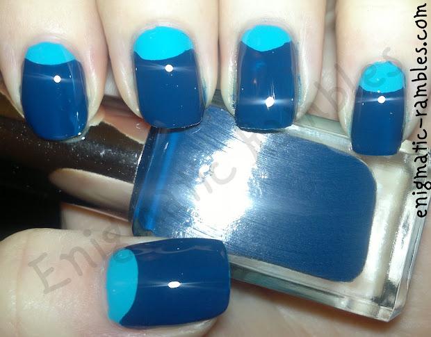 enigmatic rambles nails blue