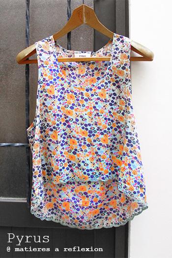 Débardeur imprimé fleurs Pyrus promo vêtements Cos