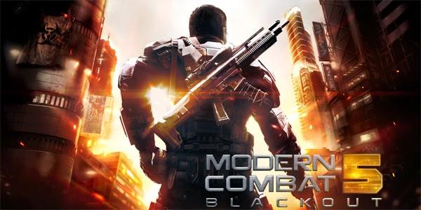 Download Modern Combat 5: Blackout Apk+data terbaru 2015