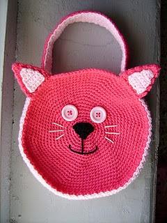 2000 Free Amigurumi Patterns: Pink Cat Bag