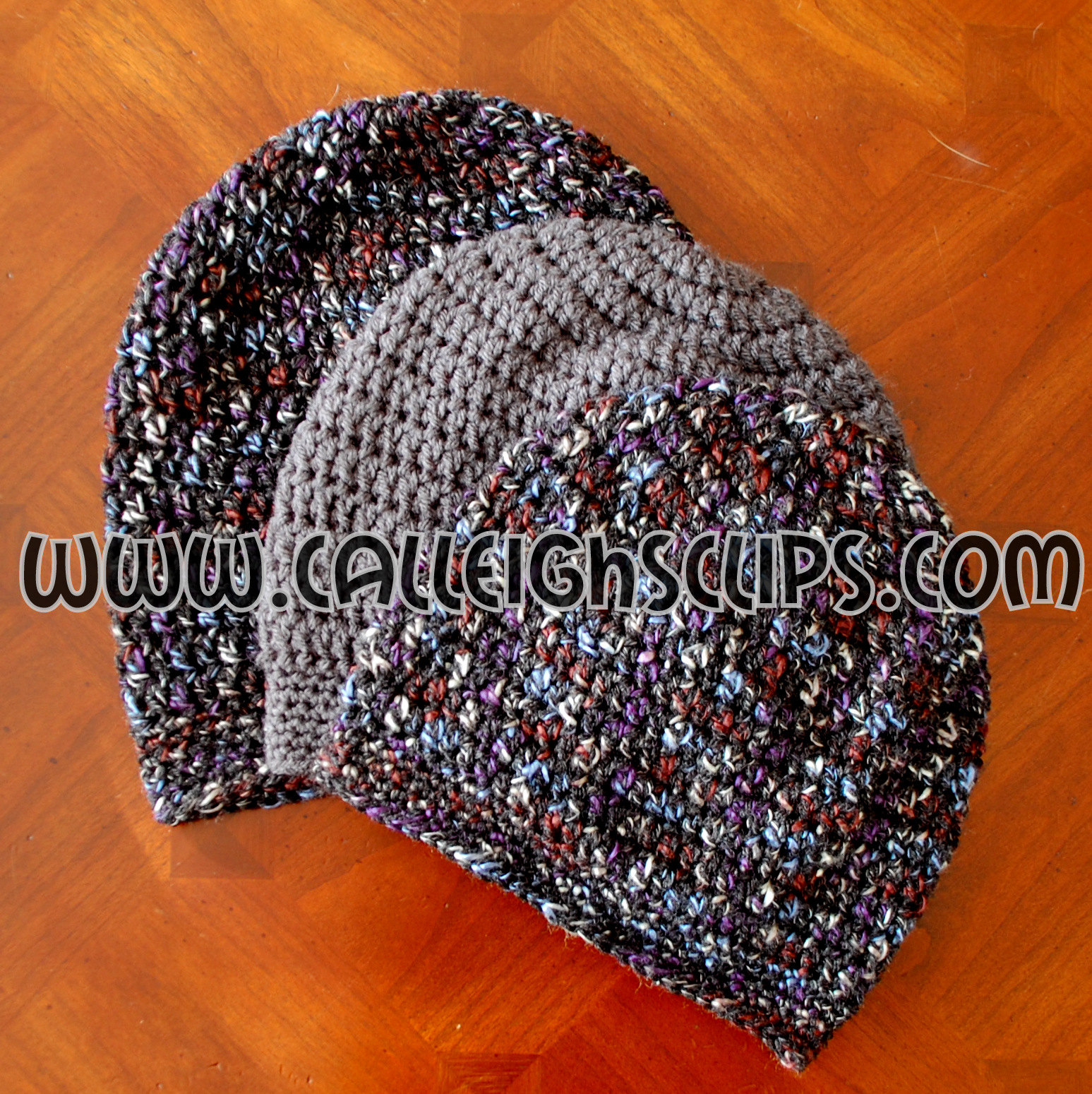 Calleigh\'s Clips & Crochet Creations: Sunset Slouchy Hat - Free ...