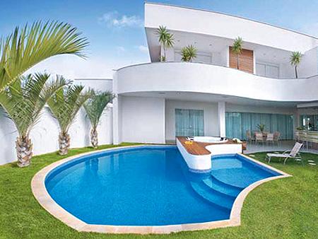 Construindo minha casa clean piscina de concreto vinil for Modelos de piscinas en casa