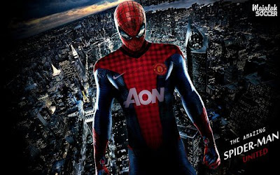 Wallpapers Spiderman Manchester United (MU) 2012-2013