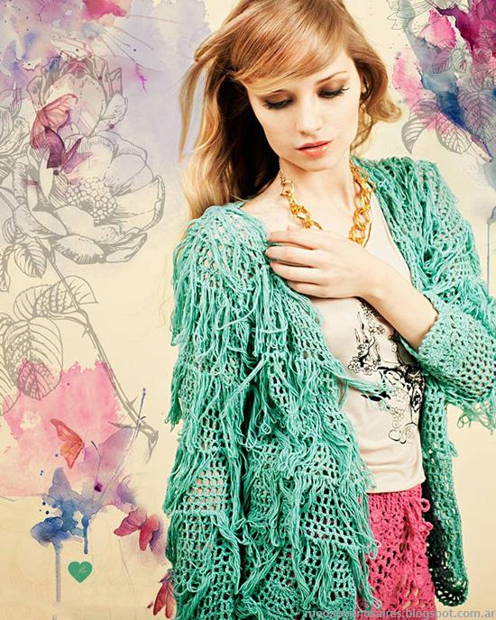 Sacos de moda 2014. Moda tejidos 2014.