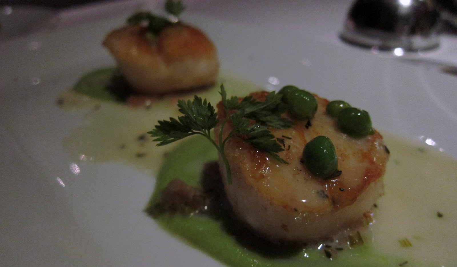 Sea Scallops With Asparagus Sauce Recipe — Dishmaps