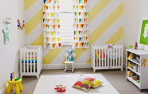Dormitorios para dos beb s dormitorios colores y estilos - Colores para habitaciones de bebe ...