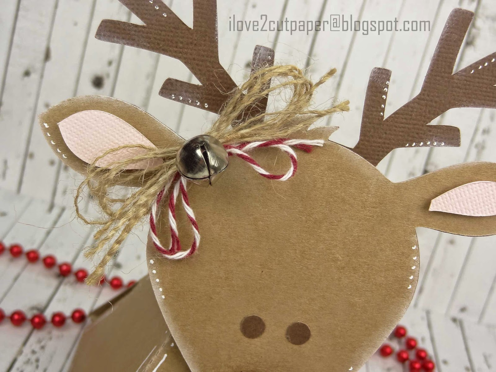 Easy 3D Reindeer Gift Box