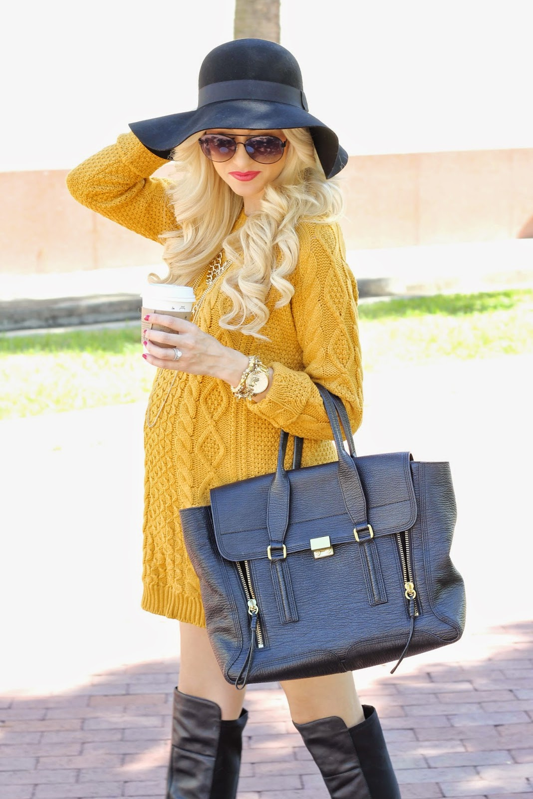 A Spoonful of Style: Mustard Sweater Dress