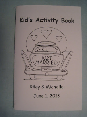 diy wedding activity book of anna and andre