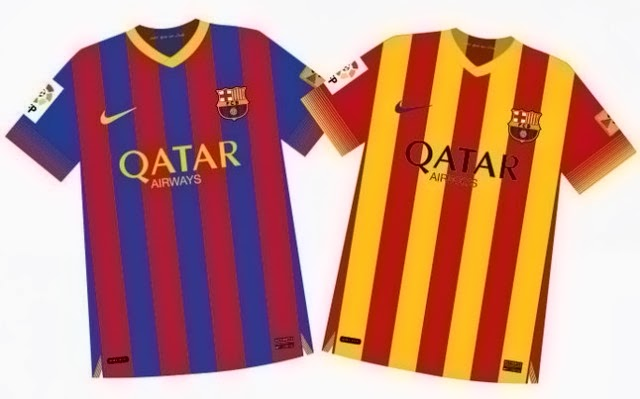 Kostum Barcelona Terbaru 2014
