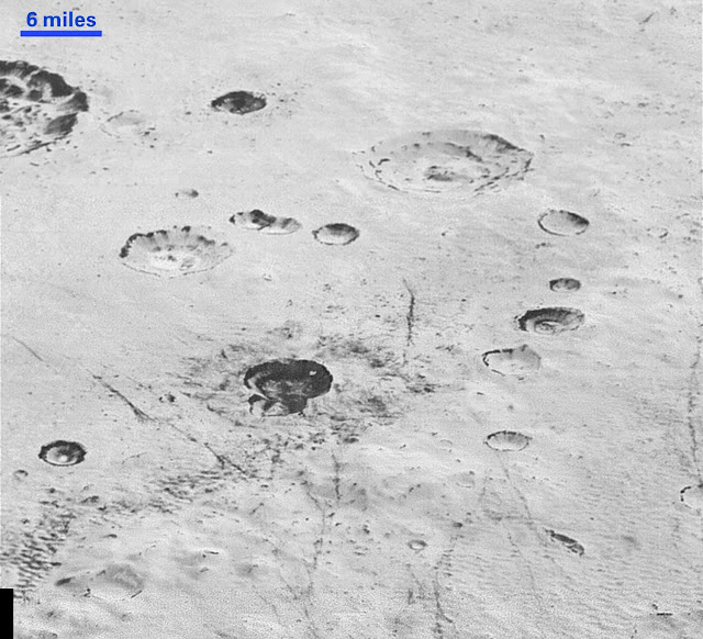 Cráteres en Plutón