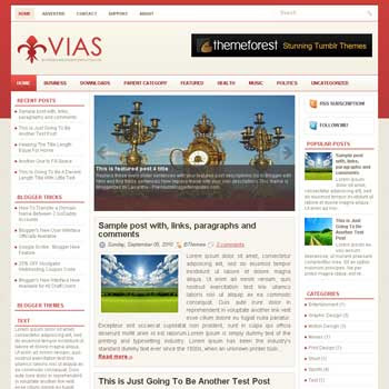 Vias blog template. magazine blogger template style. magazine style template blogspot. 3 column blogspot template