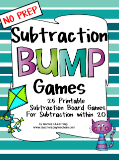 https://www.teacherspayteachers.com/Product/Subtraction-Games-828886