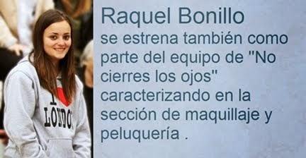 RAQUEL BONILLO , CARACTERIZADORA DE '' EL ORIGEN DE LA LEYENDA''