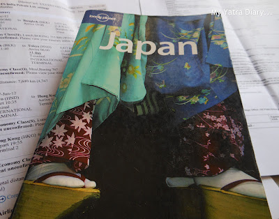 Lonely Planet and Flight Tickets for Japan
