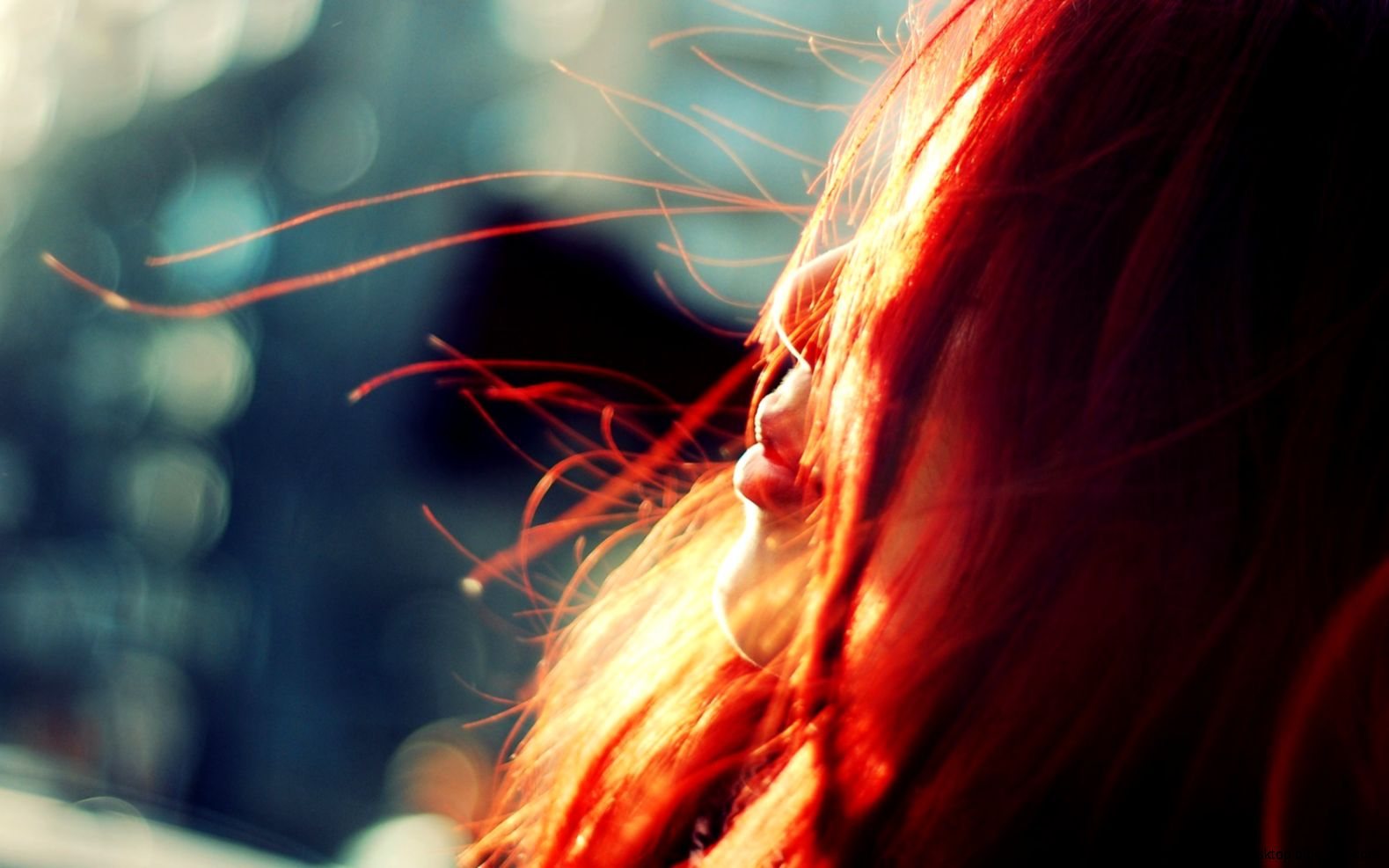 Redhead Girl Wind Bokeh HD Wallpaper   FreeWallsUp