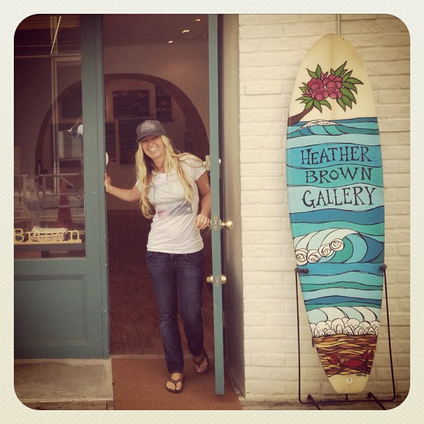 h brown, surf art, hawaii art, haleiwa
