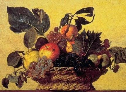 opere d'arte esposte a Milano: Canestra di Frutta di Caravaggio
