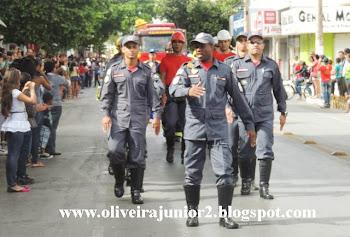 DESFILE CÍVICO JANAÚBA 2013 CORPO DE BOMBEIROS
