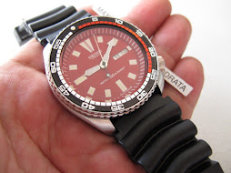 SOLD SEIKO DIVER 6309 7290 RED DIAL- RALLY BEZEL - AUTOMATIC